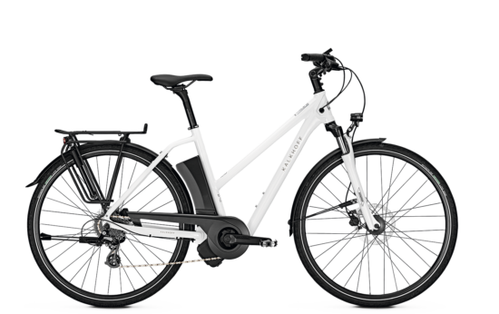 2018 Kalkhoff Voyager Move I8 Deore TR 17Ah white